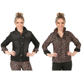 2in1 Wende-Jeansjacke 'Wild Thing' black/leo