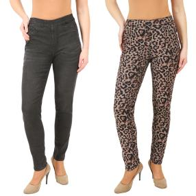2in1 Wende-Jeans 'Wild Thing' black/leo
