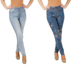 2in1 Wende-Jeans 'Beauty' lightblue/multicolor