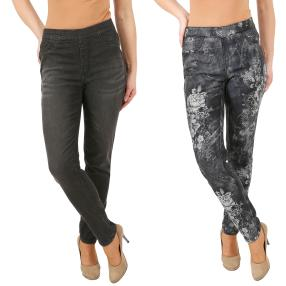 2in1 Wende-Jeans 'My Love' black/black & white