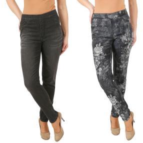 2in1 Wende-Jeans 'My Love' black/black & white