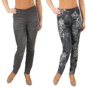 2in1 Wende-Jeans 'My Love' midgrey/black & white