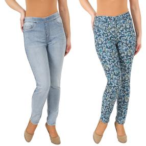 2in1 Wende-Jeans 'Butterflies' lightblue/multicolo
