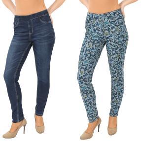 2in1 Wende-Jeans 'Butterflies' darkblue/multicolor
