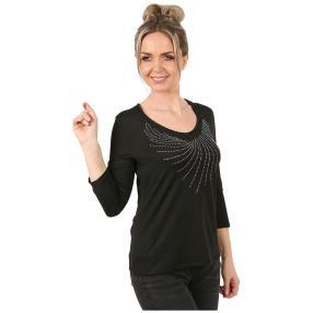 Shirt 'Style' mit Strassmotiv black