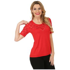 mocca by Jutta Leibfried Shirt mit Strass rot