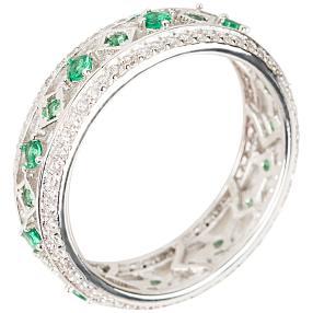 Ring 925 St. Silber Zirkonia grün