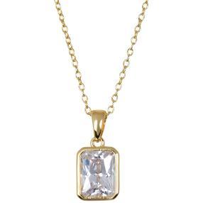 Anhänger+Kette 925 St. Silber vergoldet  Zirkonia