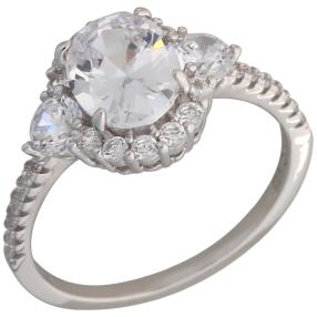 Ring 925 Sterling Silber Zirkonia, weiß