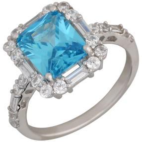 Ring 925 Sterling Silber Zirkonia sky blue