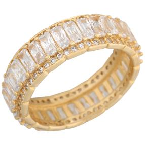 Ring 925 St. Silber vergoldet Zirkonia