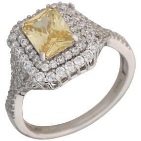 Ring 925 Sterling Silber Zirkonia gelb