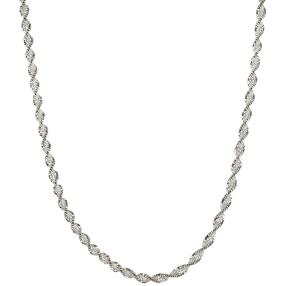 Collier 925 St. Silber rhodiniert Twist