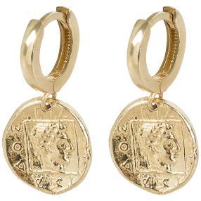 Ohrhänger Münze 925 St. Silber vergoldet