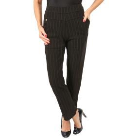 Damen-Thermo-Hose mit Bambus gestreift schwarz