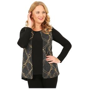 IMAGINI  2 in 1 Damen-Shirt schwarz/gold