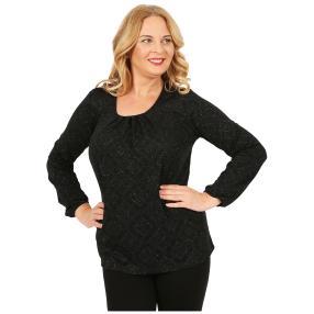 IMAGINI Damen-Shirt schwarz/schwarz