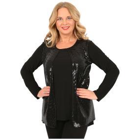 IMAGINI  2 in 1 Damen-Shirt schwarz/schwarz