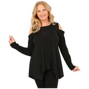 IMAGINI Damen-Shirt, schwarz/schwarz