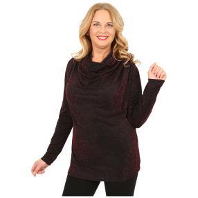 IMAGINI  Damen-Shirt, schwarz/rot