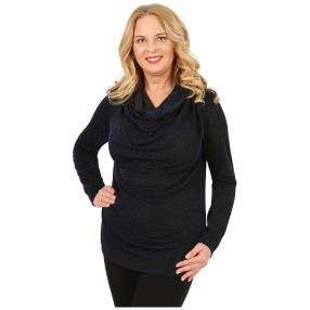 IMAGINI Damen-Shirt, schwarz/blau