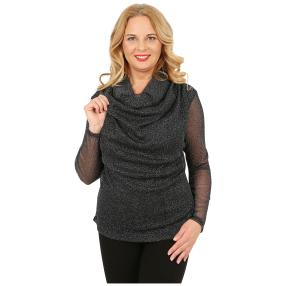 IMAGINI Damen-Shirt, schwarz/silber