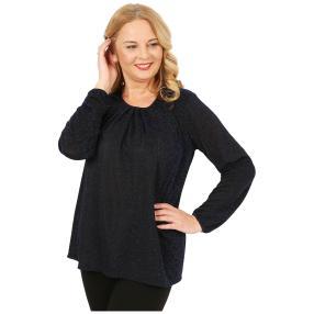 IMAGINI  Damen-Shirt schwarz/blau
