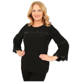 IMAGINI  Damen-Shirt mit Spitze schwarz