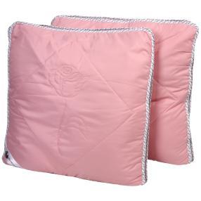 Stoffhanse Kissen 80 x 80 cm, 2er Set, rosé