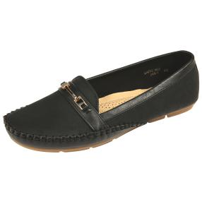 Roses Damen Slipper, schwarz