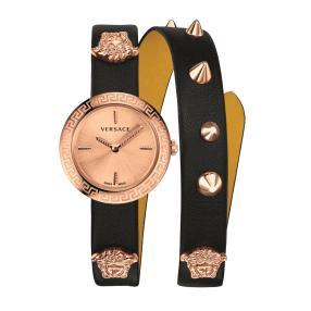 """Versace Damenuhr """"Medusa"""" Quarz Lederband gold"""