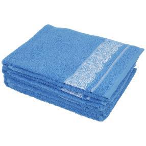 Handtuch Spitze 4-teilig, blau/weiß