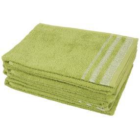 Handtuch Streifen 4tlg. grün 50x100 cm
