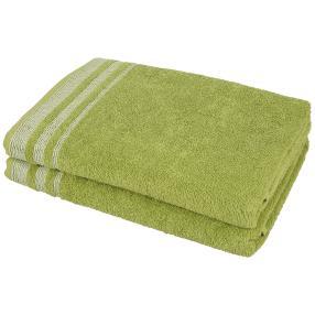 Duschtuch 2tlg. Streifen grün 70x140 cm