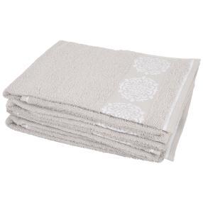 Handtuch Ornament 4-teilig, grau/weiß