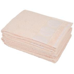 Handtuch Ornament 4-teilig, rosa/weiß