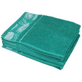 Handtuch Blätter 4tlg. petrolgrün 50x100 cm