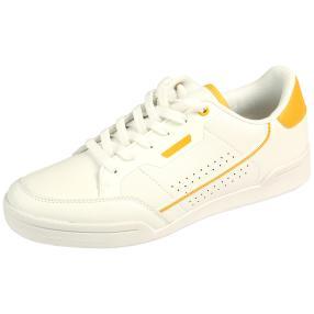 Claudia Ghizzani Dame Sneakers, ocker, weiß