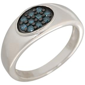 Ring 925 Sterling Silber rhodiniert Brillanten