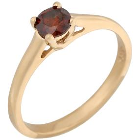 Ring 585 Gelbgold Brillant ca. 0,50 ct rot