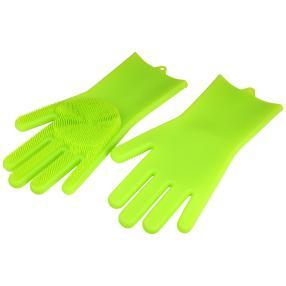CLEANmaxx Silikonschwamm-Handschuhe 2er Set