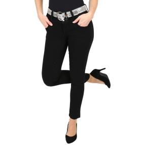 "Jet-Line Damen-Jeans ""Loved Black"", mit Gürtel"