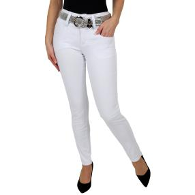 "Jet-Line Damen-Jeans ""Loved White"", mit Gürtel"