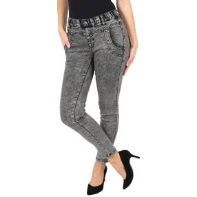 "Jet-Line Damen-Jeggings ""Easy Shape"", Ösen  grey"