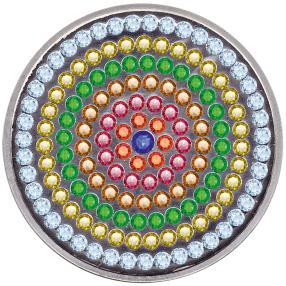 Münze mit 148 Edelsteinen