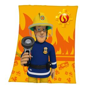 Fleecedecke Feuerwehrmann Sam, 130x160 cm