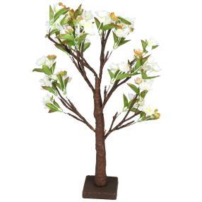 LED-Blütenbaum, weiss, 10x30x60 cm, Künstsoff