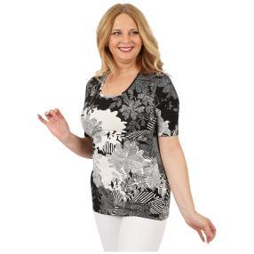 RÖSSLER SELECTION Damen-Shirt 'Chéri' schwarz/weiß