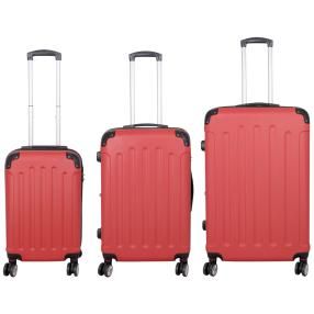 3-teiliges Trolleyset Avalon II rot