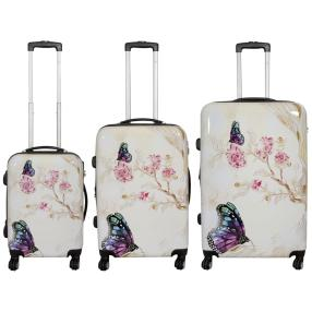 3-teiliges Trolleyset Butterfly II